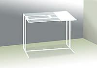 Стол приставной для предметов комфорта и IT-техники Commus Comfort A600 clear 8/ white / white