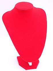 """Бюст ювелірний """"червоний Оксамит h=25 см"""""""