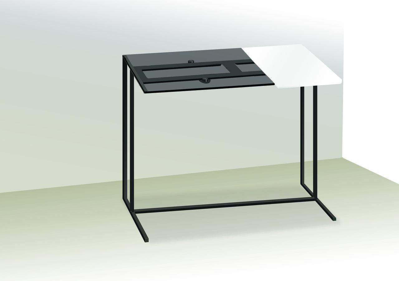 Стол приставной для предметов комфорта и IT-техники Commus Comfort A600 gray 8/white/black