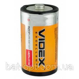 Батарейка солевая Videx R20 D (трей)