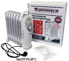 ⭐ Радиатор масляный (2000 Вт) GRUNHELM SLIM GR-0920S (обогреватель)