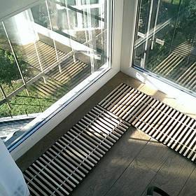 Решетка для внутрипольного конвектора из дерева по внутренним размерам короба. 1