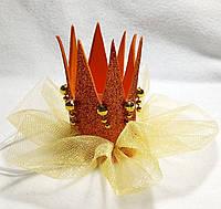 Карнавальная корона для принцесс на резинке
