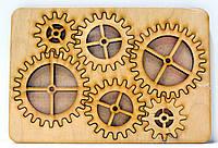 Деревянные Шестеренки Набор 6 шт на дощечке заготовка для бизиборда дерев'яні шестерінки для бізіборда