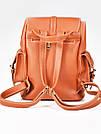 Рюкзак винтажный Mojoyce рыжий (683), фото 2