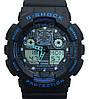 Спортивные наручные часы Casio G-Shock ga-100 Black-Blue Касио реплика, фото 4