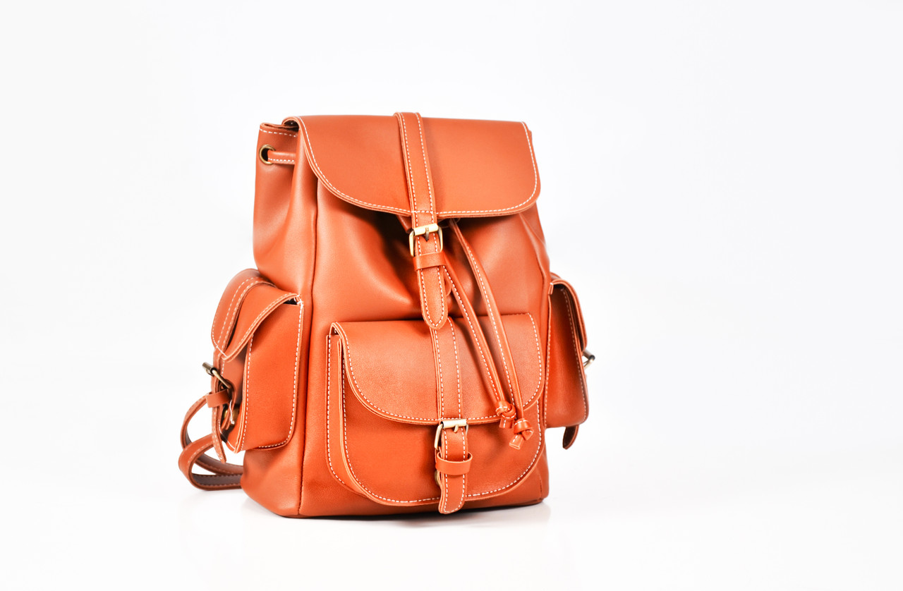 Рюкзак винтажный Mojoyce рыжий (683)