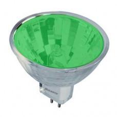 Лампа 12v - 50w  MLUX  36°  MR16 зел. скл.