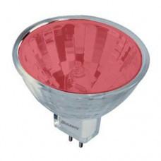 Лампа 12v - 50w  MLUX  36°  MR16 черв. скл.