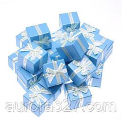 """Коробочка під кільце і сережки """"Jewelry блакитна 5,4 х 5,4 х 4,5 см"""""""