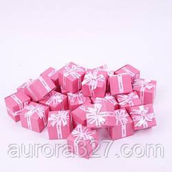 """Коробочка під кільце і сережки """"Jewelry рожева 5,4 х 5,4 х 4,5 см"""""""