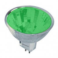 Лампа 12v - 50w  DELUX MR16 зел.