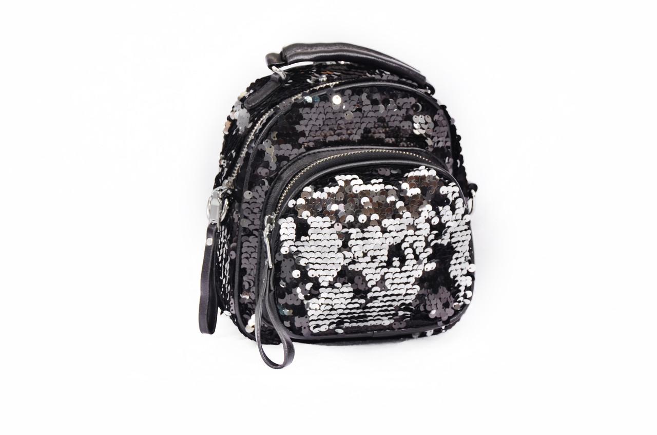 Сумка рюкзак с пайетками Luxy Moon золотой (495/5)