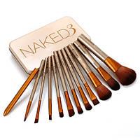 Набір кистей для макіяжу NAKED3 в контейнері 12 1