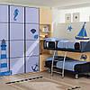 Набор декоративных наклеек в детскую Море (ПВХ наклейки стикеры декор самоклеющаяся пленка) матовая