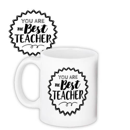 Кружка с принтом Учителям и воспитателям Best teacher (KR_SS003)