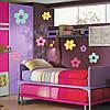 Набор виниловых интерьерных наклеек для стен Цветы в горошек (детские наклейки стикеры для детей) матовая