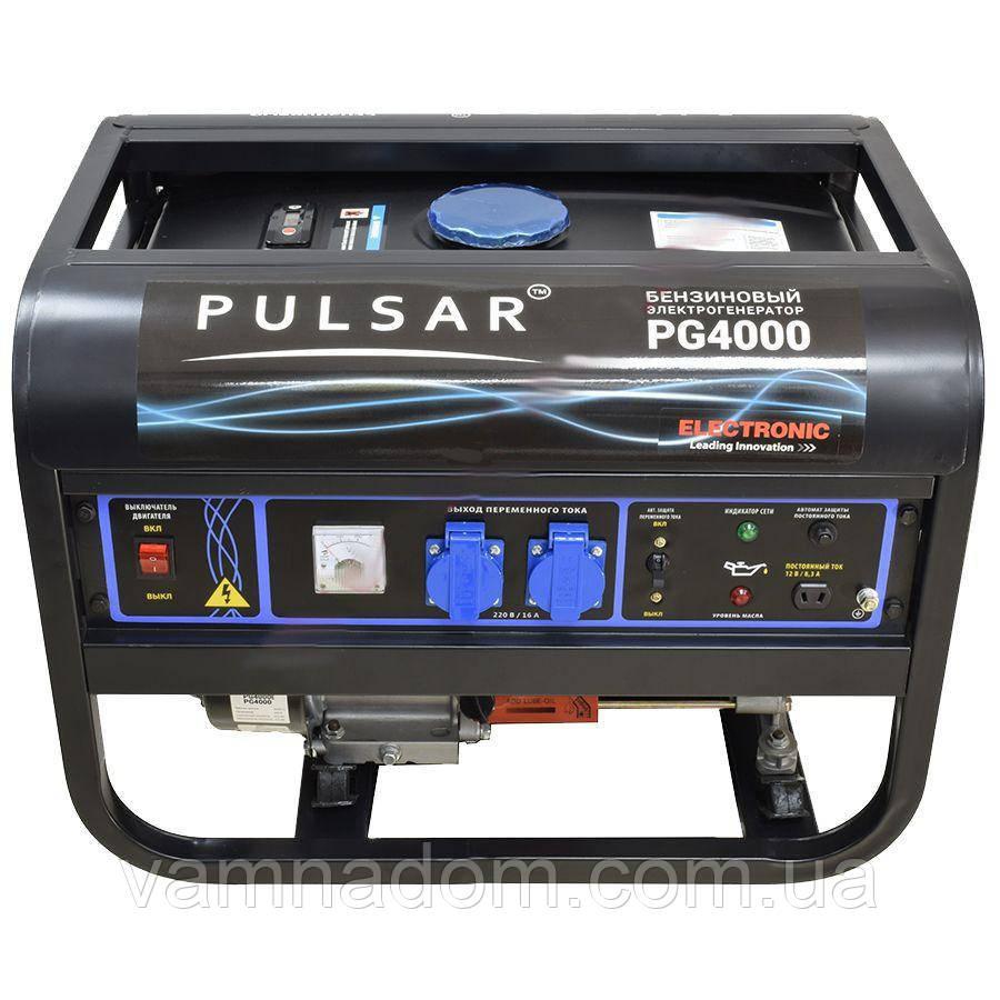 Бензиновый генератор PULSAR PG-4000E (электростартер)