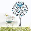 Інтер'єрна вінілова наклейка Дерево з совою (наклейки на стіну в дитячу кімнату) матова 965х1500 мм