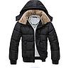 Чоловіча тепла куртка з хутряним коміром (01148)