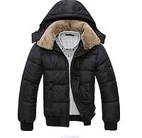 Мужская теплая куртка с меховым воротником (01148), фото 1