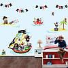 Интерьерная виниловая наклейка для детей Пираты (морская тематика корабль) матовая 1220х730 мм