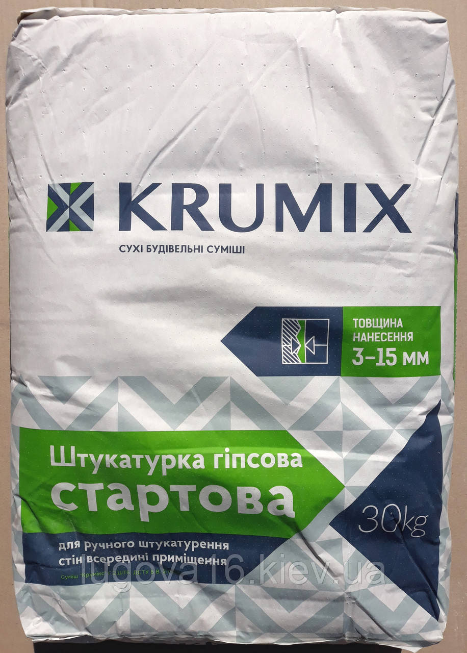 Штукатурка Krumix СТАРТ, 30кг, Ив.-Фран. цемент