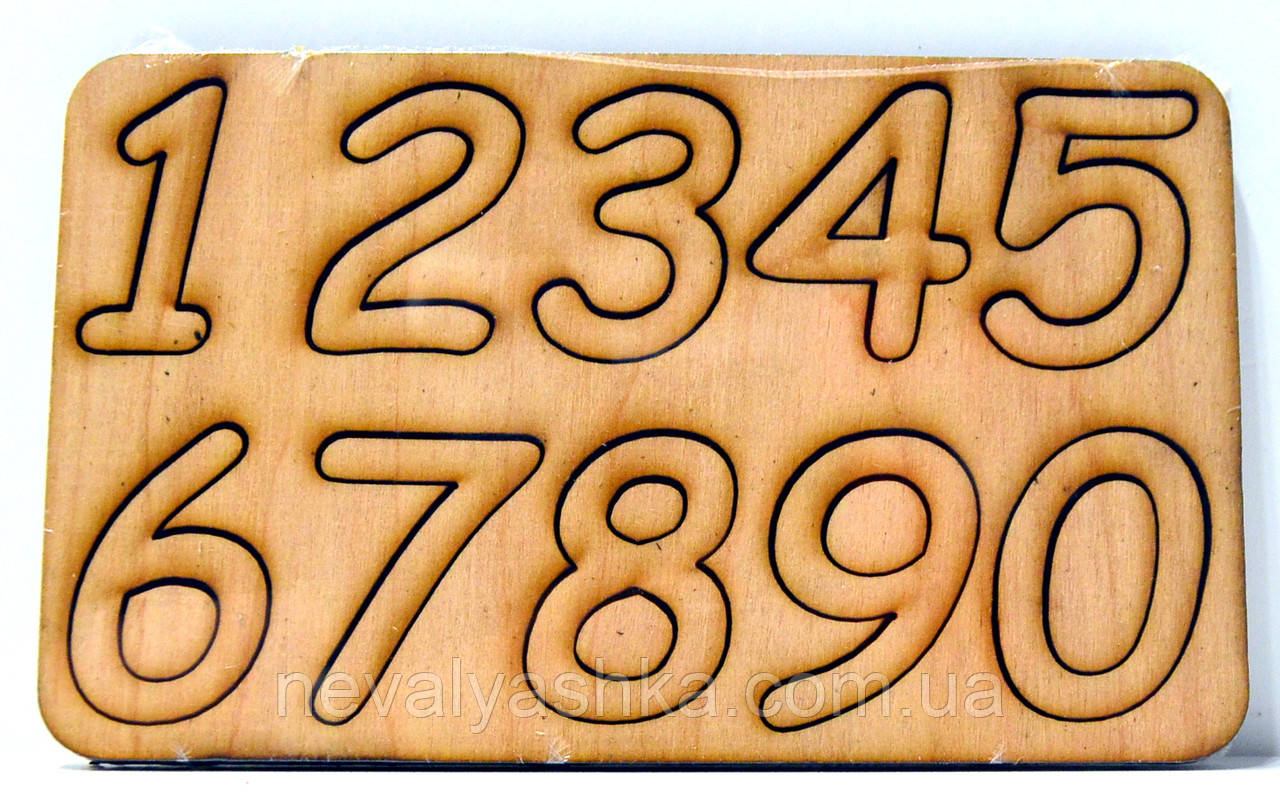 Деревянные цифры Набор цифр 0-9 дерев'яні цифри для скрапбукинга заготовка для бизиборда декупажа цифра