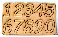 Деревянные цифры Набор цифр 0-9 дерев'яні цифри для скрапбукинга заготовка для бизиборда декупажа цифра, фото 1