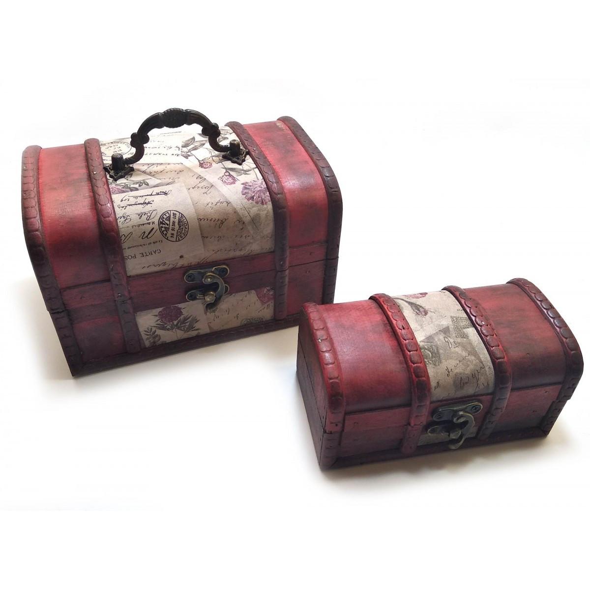 Сундучок деревянный набор 2 шт