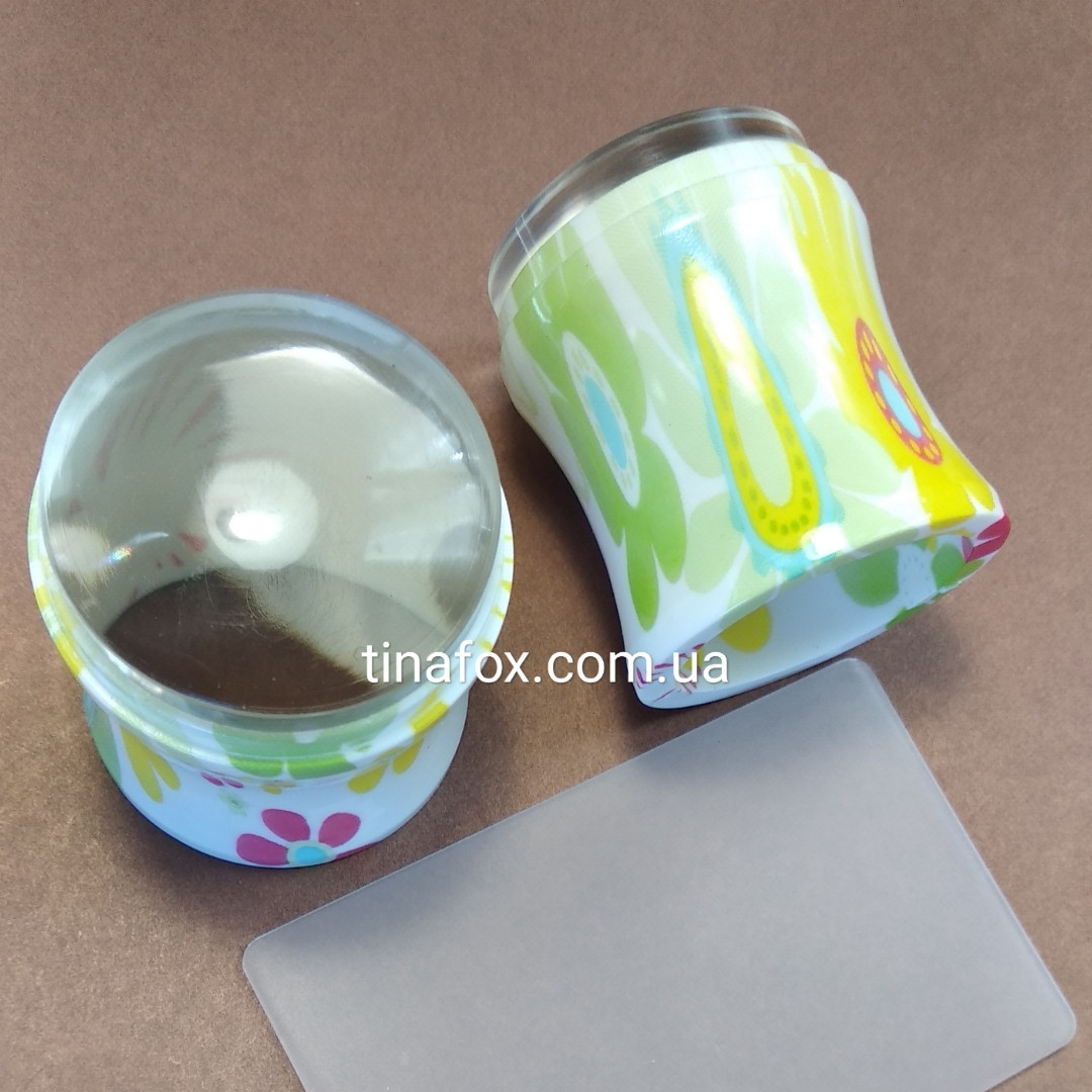 Прозрачный силиконовый штамп с скрапером.
