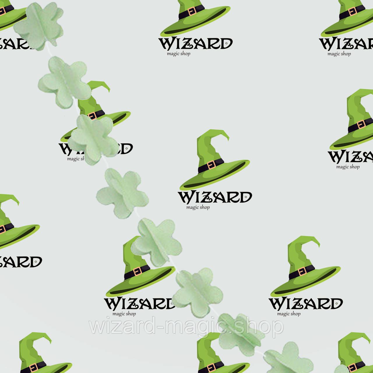 Гирлянда бумажная 3D Цветы зеленый