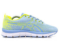 "Кроссовки Asics Gel-Quick 33 ""Light Blue/Yellow""  (Копия ААА+)"