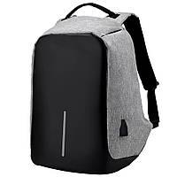 Рюкзак Bobby антивор для ноутбука. Портфель городской  СЕРЫЙ, фото 1