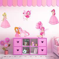 Набор интерьерных виниловых наклеек для девочки Принцессы и Феи
