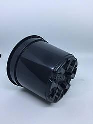 Горшок для рассады 0.500 л,d 11 см,Floser, черный.Польша.