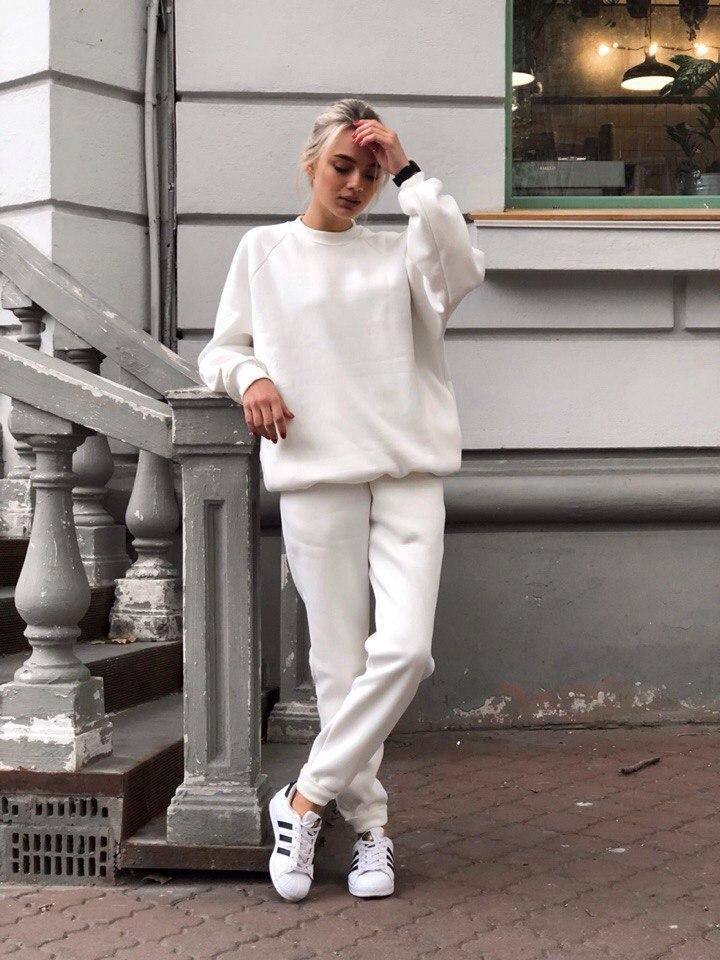 Теплый спортивный костюм женский, размеры SM и МL