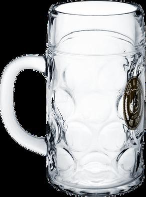 Пивная кружка большая рифленая 1000 мл, фото 2
