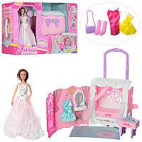 Мебель 99047 спальня в виде сумочки, кукла шарнирная 29см, аксессуары, в кор-ке, 53-39,5-18см