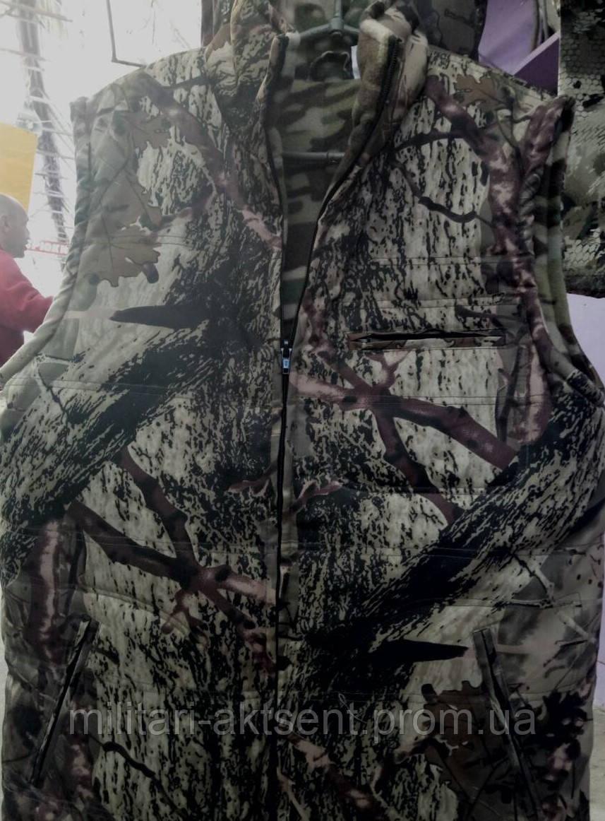 d6c6389e6c8 Жилетка зимняя камуфляжная флисовая 46 размер - Интернет- магазин