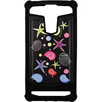 Чехол TOTO Universal TPU case with image 5.5 Sea Stars Black (Glass29)