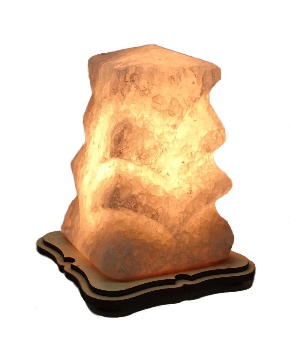 Соляной светильник Ёлка маленькая резная