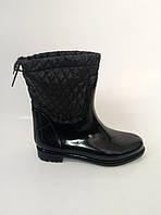 Женские резиновые ботинки черного цвета, фото 1