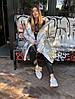 Пуховик-одеяло серебряный с варежками L/XL, фото 4