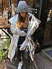 Пуховик-одеяло серебряный с варежками L/XL, фото 3