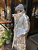 Пуховик-одеяло серебряный с варежками L/XL, фото 5