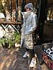 Пуховик-одеяло серебряный с варежками L/XL, фото 7