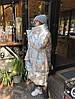 Пуховик-одеяло серебряный с варежками L/XL, фото 6