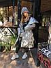 Пуховик-одеяло серебряный с варежками L/XL, фото 9