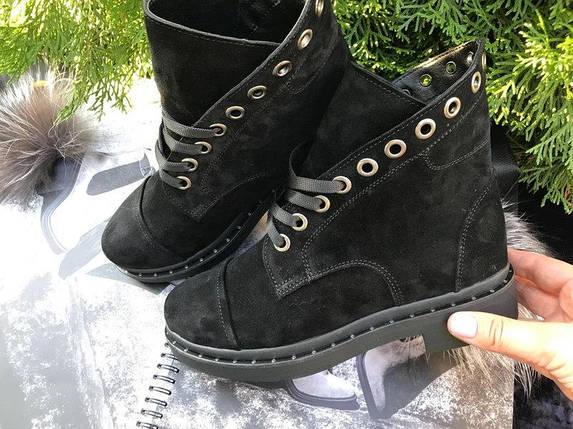 Женские ботинки из натуральной замши со шнуровкой 36-40 р, фото 2